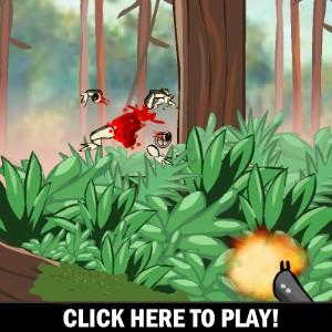 Kamikaze Frogs -  Strzelanie Gra